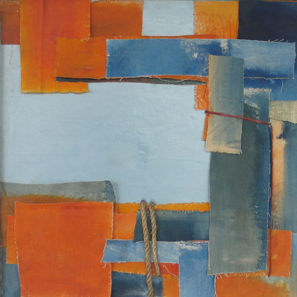 blue paper collage (orange)